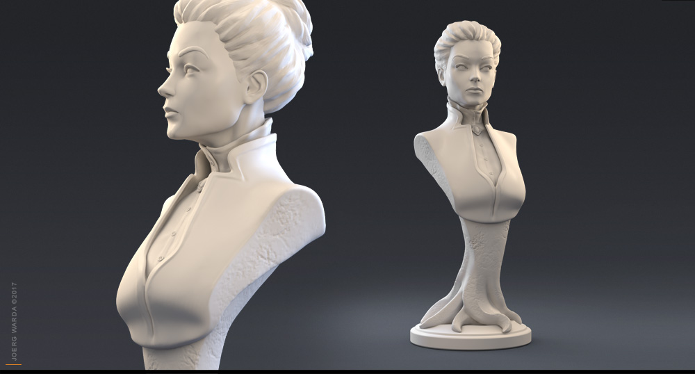 female 3d character modelling sculpting zbrush warda art berlin